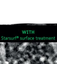 Mouillabilité avec traitement de surface StarSurf
