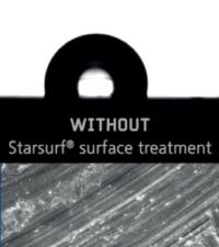 Mouillabilité sans traitement StarSurf